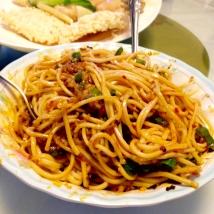 Cold noodles.