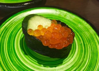 Salmon roe -- only Miko ate this one.